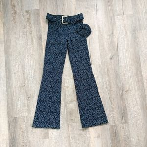 Le Chateau   bell bottoms with scrunchie